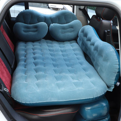 PVC Inflatable travel back car seat flocking air bed for adults car mattress
