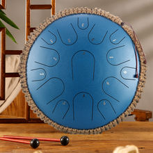 15 Tune Hand Pan Tank Drum 13 Inch Steel Tongue Drum Pad Tank Sticks Carrying Bag