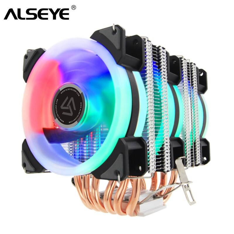 Alseye cpu heatsinks/cooler 9cm fan 4 heatpipe cooling for Intel LGA775 1151 115x 1366 2011& AMD AM3 AM4