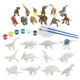 STEM educational coloring gift plastic dinosaur model diy painting set children toys 2020