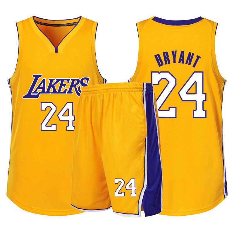 NO.23 NO.24 Formation de mode brodé ensembles Uniforme de Basket-Ball maillot de basket-ball
