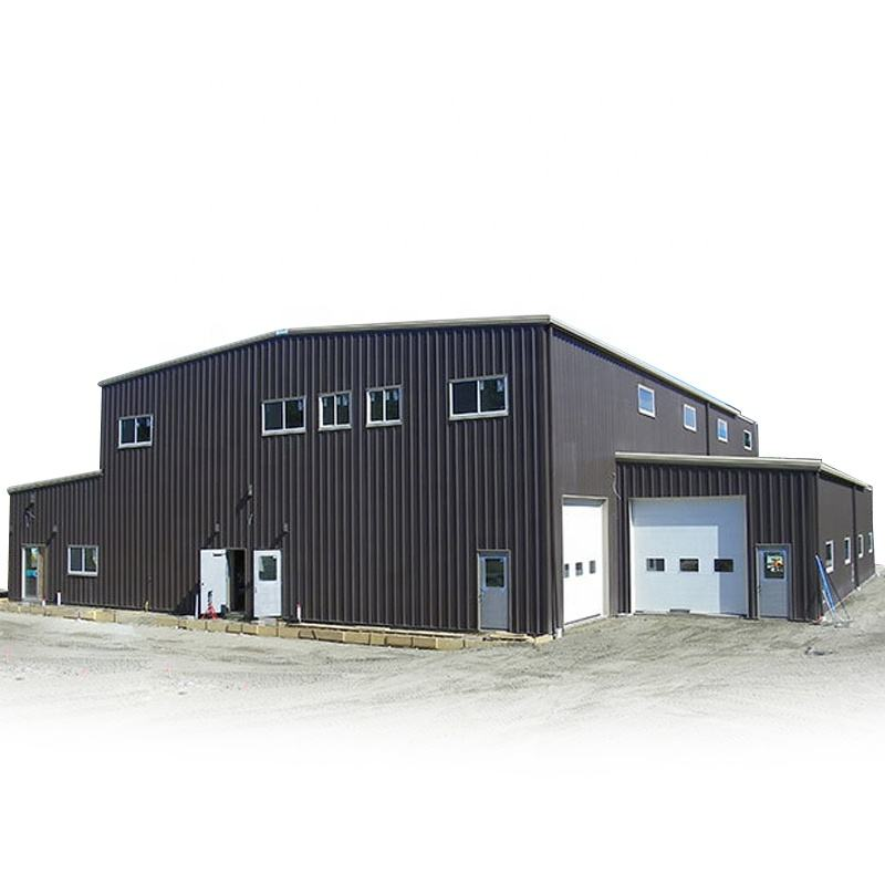 ISO & CE cheap design light steel structure factory strong construction building workshop hangar shed