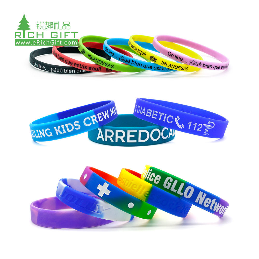 hot selling cheap custom adjustment india flag neon silicone wristbands rainbow custom silicone watch bead for bracelet