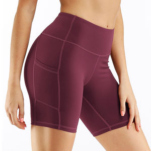 Women Compression Gym Shorts Yoga Elastic High Waist Quick Dry Fitness Shorts