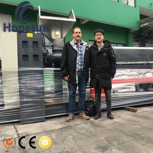 PP PE ABS PS PC PA dubbele stage afval plastic recycling machine