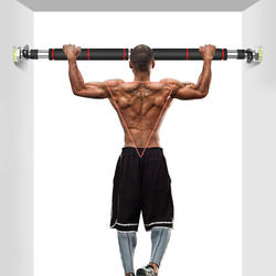 Indoor fitness equipment home exercise pull up trainer wall hole free horizontal bar
