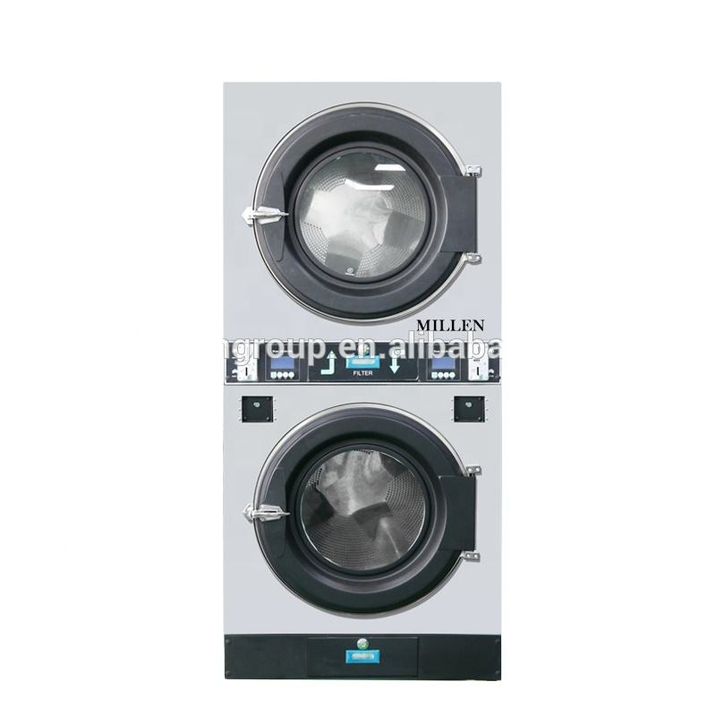 Coin/card operated washing machine laundry Automatic double-deck dryer machine