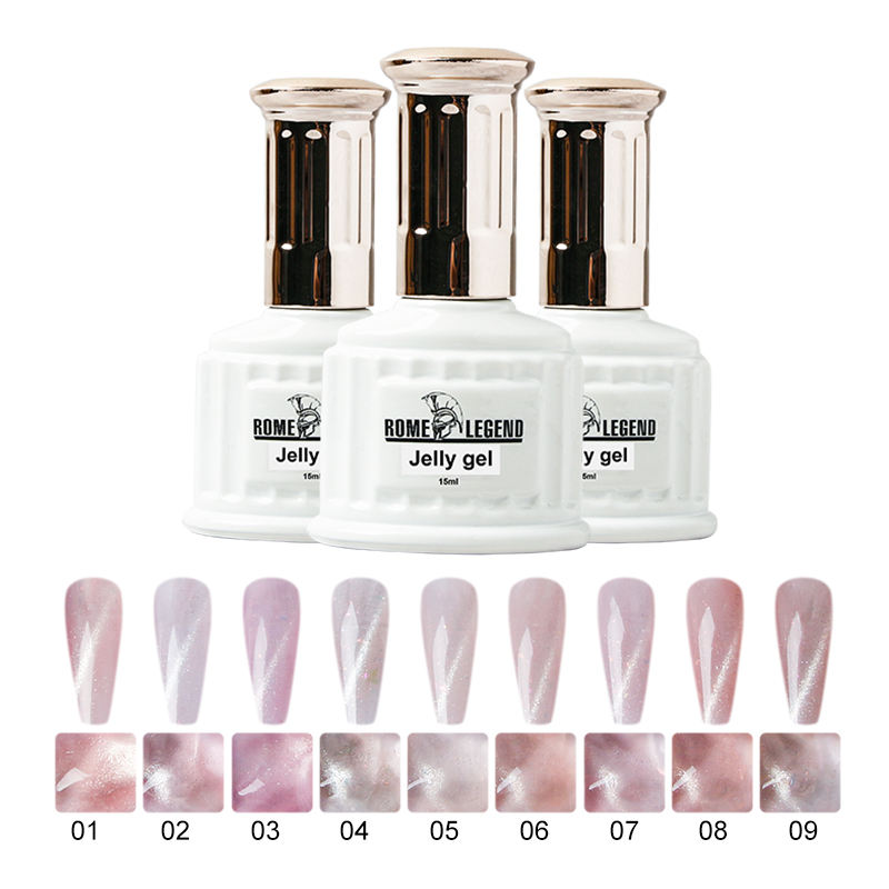 Macaron Vernis Permanent Pot Vide Cosmetique Canni Kit Ongle Private Label Lamp Nail Polish Set Led Nail UV Gel