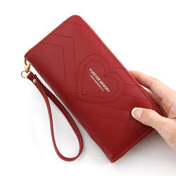 JF2011 Long Style Creative Women's Wallet In Faux Leather Travel Wallet For Girls