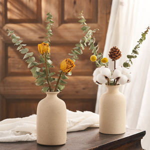 Artwork Artistic Snowflake Glaze Home Decoration Created Ceramic Flower Vase
