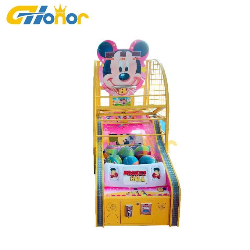 Newest kids coin operated mini basketball shooting arcade game machine for sale
