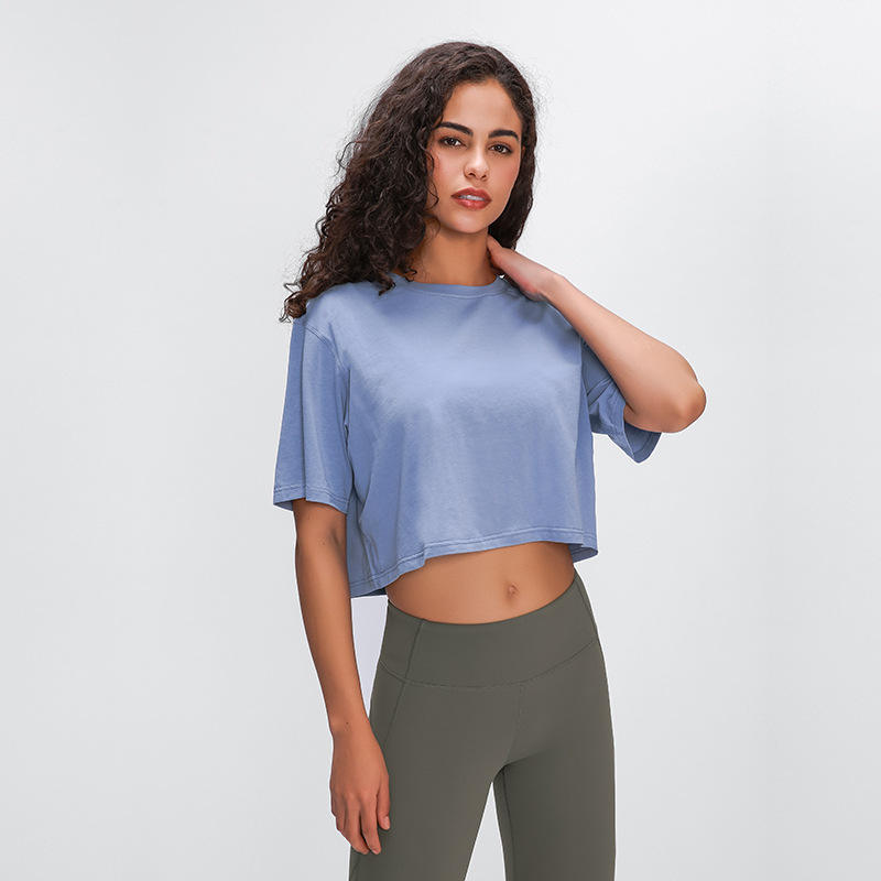 Wholesale Crop Tops 2020 Sexy Blank Crop Tee Women