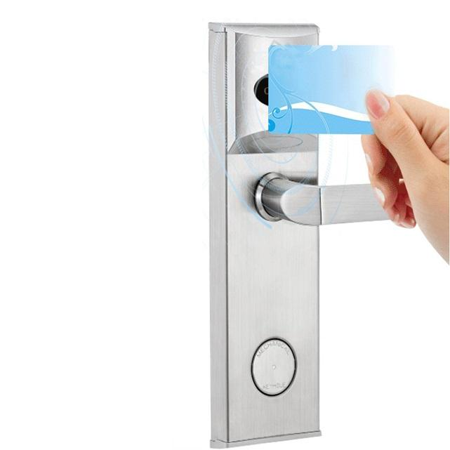 smart lock RFID Key Card Keyless Security Hotel Door Lock system with software, encoder and energy saving switch