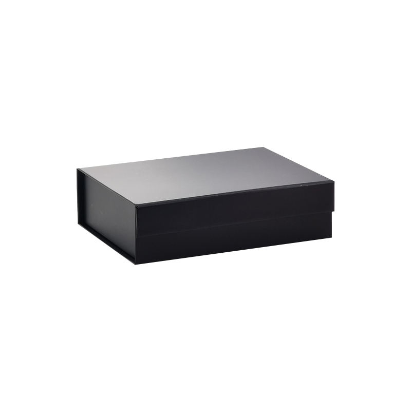 Wholesale in stock packaging small black folding magnetic lid gift box