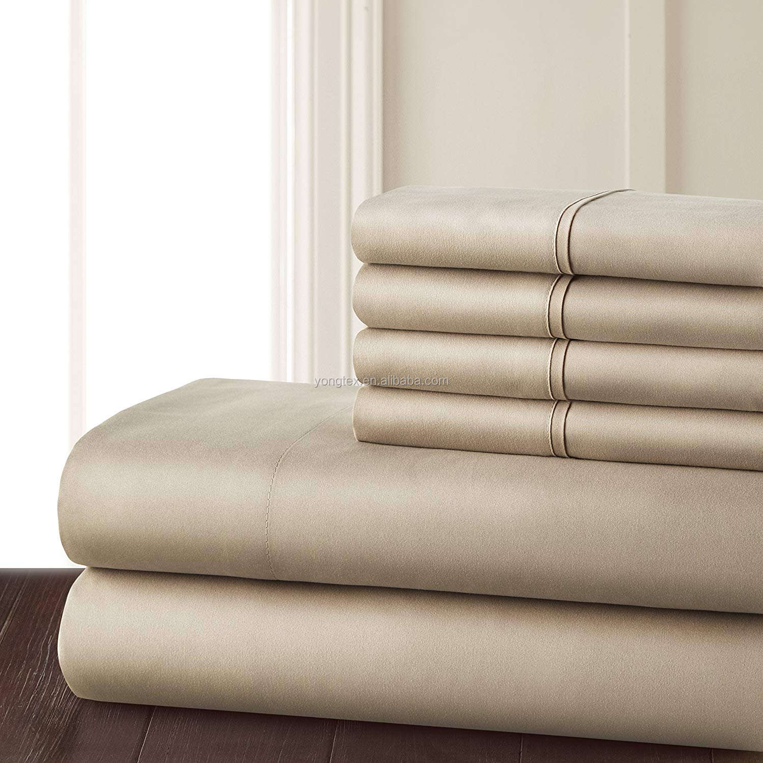 Soft Feeling 100% Pure Bamboo Bedding Set/400TC Bamboo cot sheets