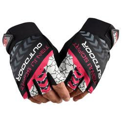 Outdoor half finger anti-ultraviolet cotton anti-skid Fashion Sun protection  women summer  breathable elastic riding
