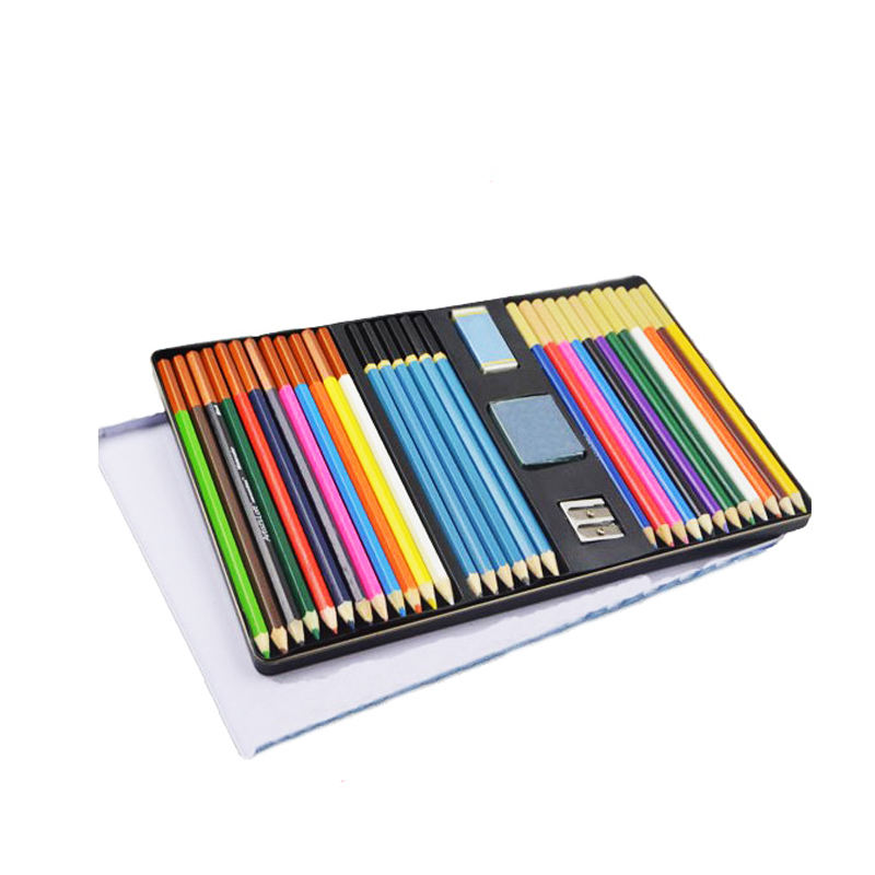 High quality 33pcs artist drawing pencil color set for kids
