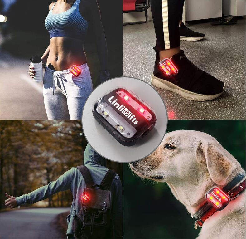 Type C Rechargeable Firefly Clip On LED Safety Running Jogging Light