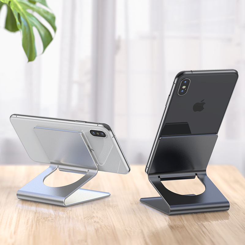 2020 mobile phone accessories aluminum desktop cellphone smartphone metal stand for phone and tablet