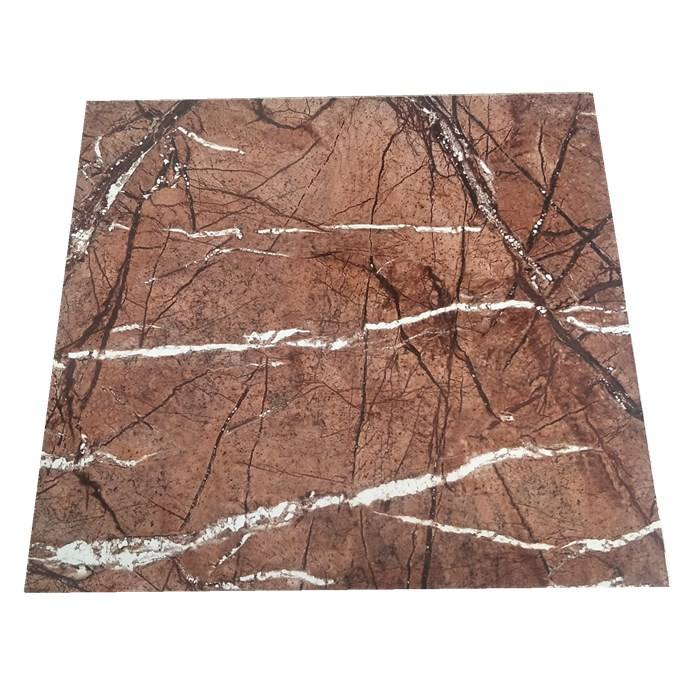 1220*2440 UV marble sheet laminate film customized size waterproof soundproof uv pvc marble sheet
