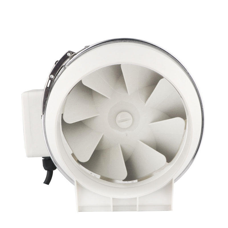 Chin-Up Hydroponics Factory Supply 4 5 6 Inch Plastic White Inline Fan