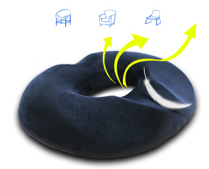 Donut Tailbone Pillow Hemorrhoid Cushion - Donut Seat Cushion Pain Relief Hemmoroid Treatment Cushion