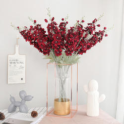 Yiwu supplier wholesale 6 colors silk wedding flowers interior decorating  decoration artificial fake flowers
