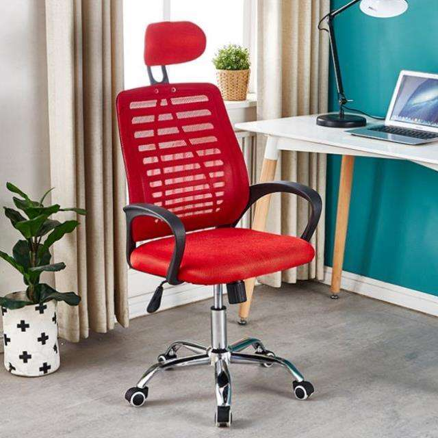 swivel gas lift red mesh accessories office chair