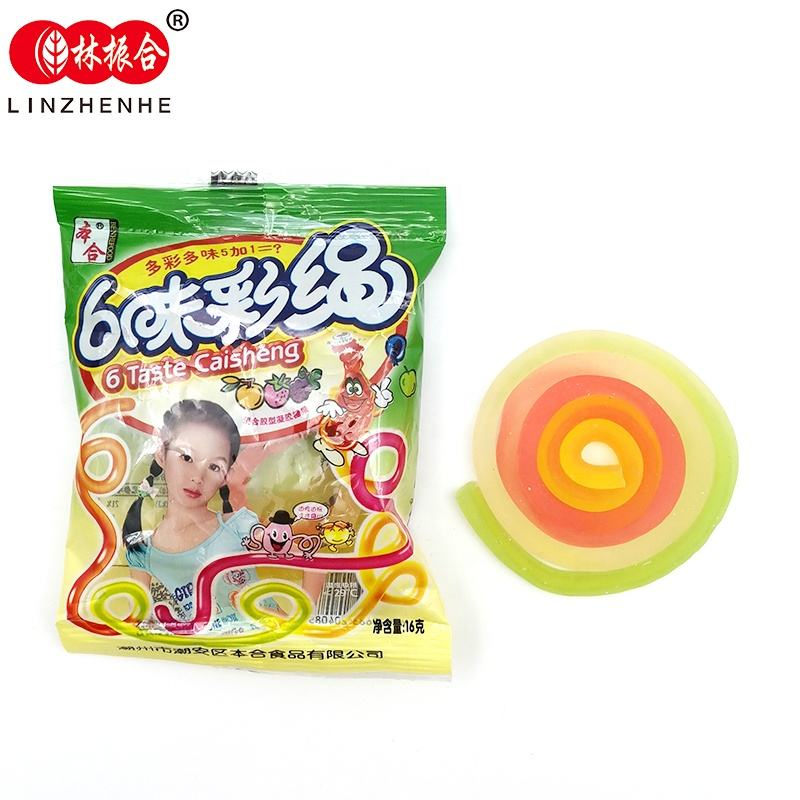 Bag package yummy fruit flavor candy string juicy gummy candy