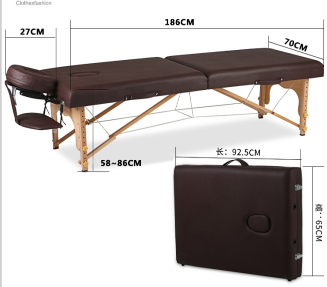 New concept hydraulic portable iron massage table
