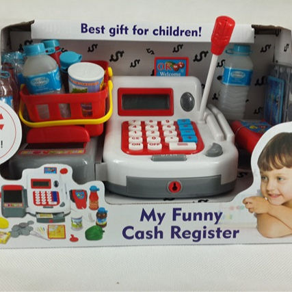 Multi-Functional Educational Pretend Play Shopping set Electronic Toy Cash Register with Microphone