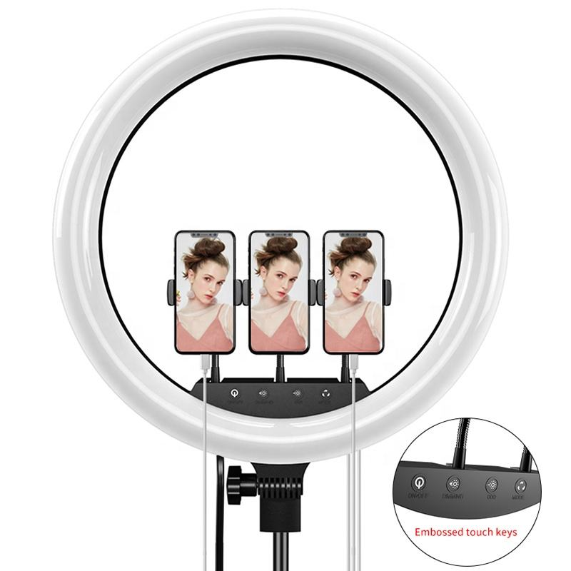 45cm 18inch Adjustable Touch Camera Selfie Timer For Live Makeup YouTube Video Led Circle Ring Light