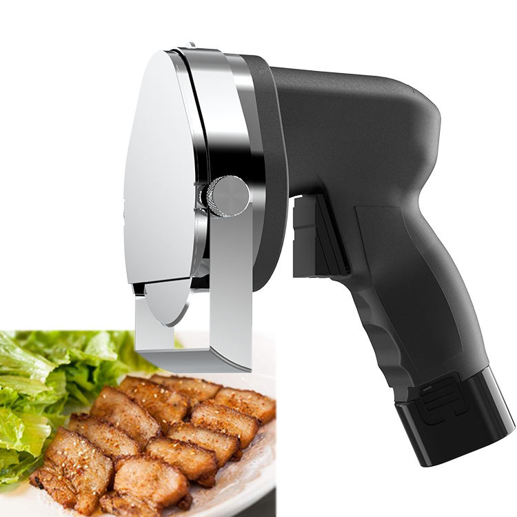 220V Electric Slicer Shawarma Kebab Meat Stainless Steel Knife with Blade and Whetstone