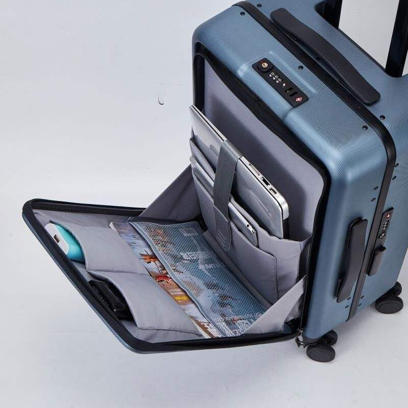 Top open smart suitcase with TSA lock business travel luggage Carry-on Luggage
