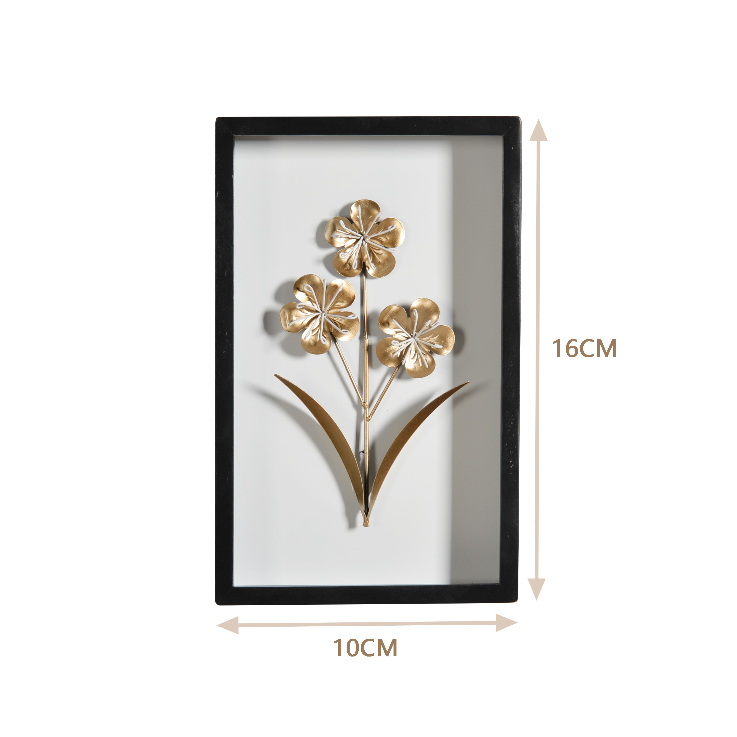 Mayco 3D Iron Plant Painting Metal Sculpture Wall Mounted Decorative Picture Frames for Home Decor