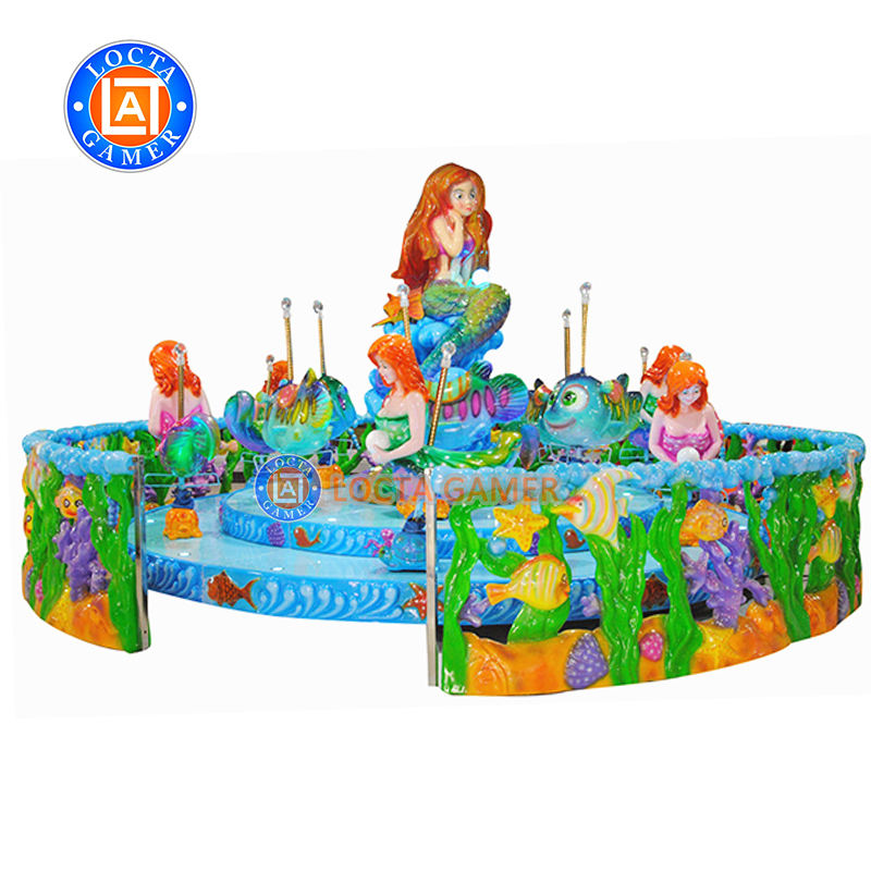 Amusement park mermaide rotating rides kids rides carousel swing chair amusement park products