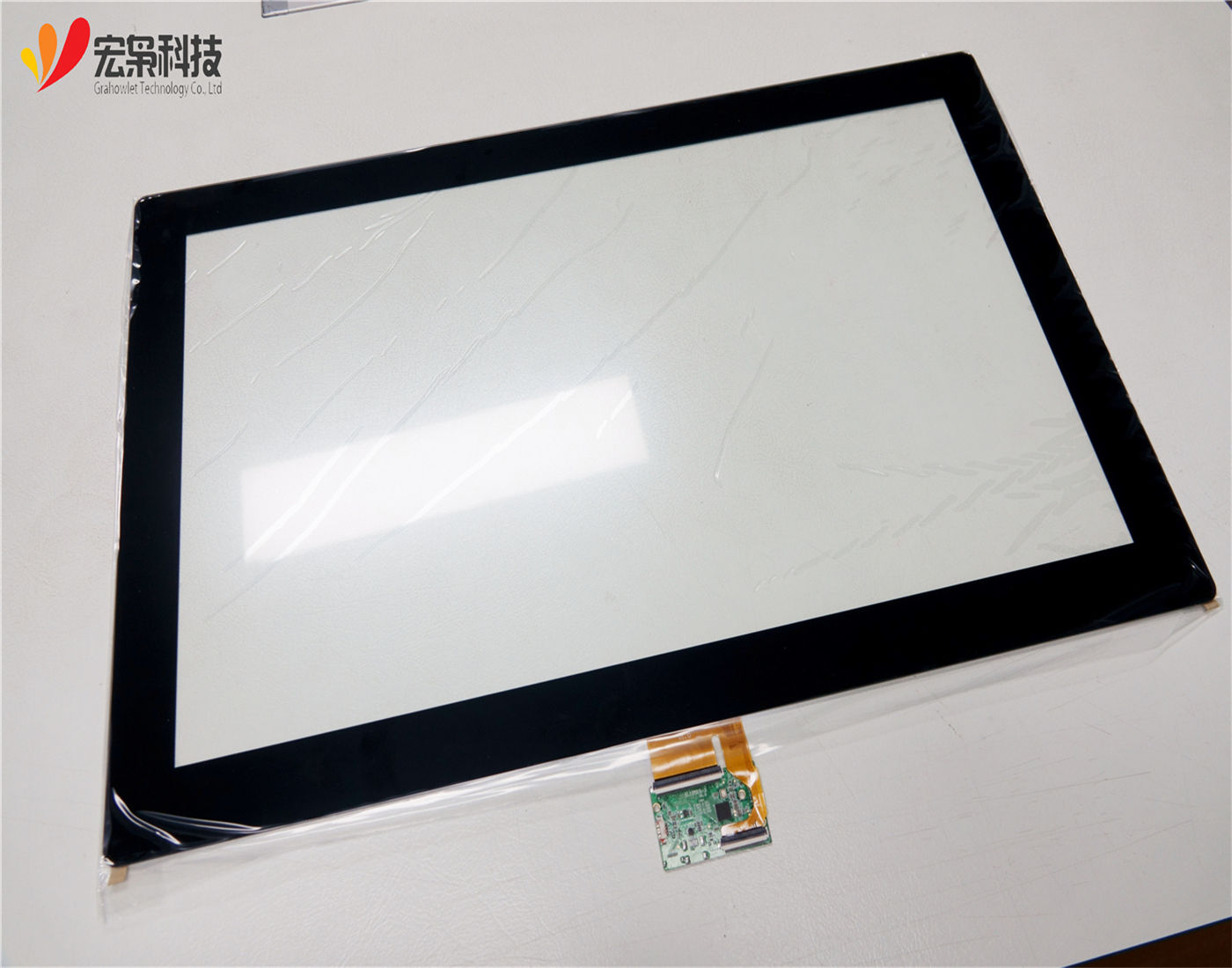 Custom size PCAP touch 21.5, 236, 23.8, 24,27, 30,32 Inch capacitive touch screen panel 와 USB controller