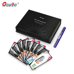 onuge fda approved teeth whitening strips charcoal + bright white teeth whitening pen kit