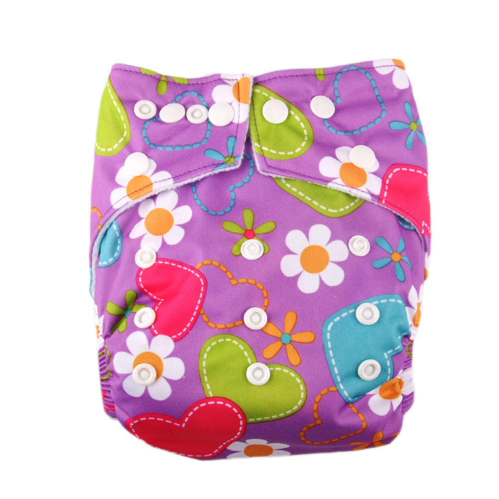 50 units reusable cute prints ecological washable baby cloth diapers