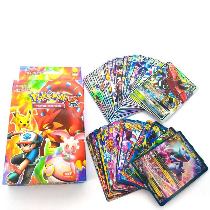 Free Shipping for pokemon flash playing paper cards 80EX+20MEAG 100pcs