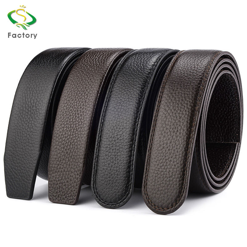 Wholesale custom logo fashionable man leather belt without the buckle