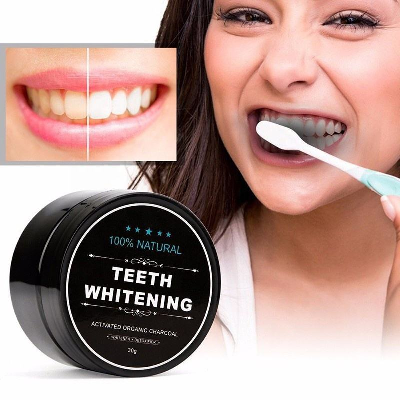 Teeth Whitening Bamboo Charcoal Tooth Powder 100% Natural Activated Carbon Strong Formula Dental Whitening Black Cleaning Powder