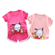 2020 new style children trendy toddler boutique baby set wholesale garments girl sports clothes printed cartoon suit