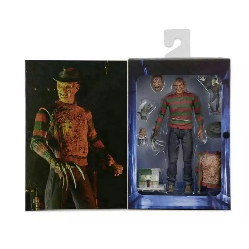 7 inch NECA A Nightmare On Elm Street 3 Freddy Krueger Action Figure Toys Articulated joints moveable Figure Vinyl Doll Model