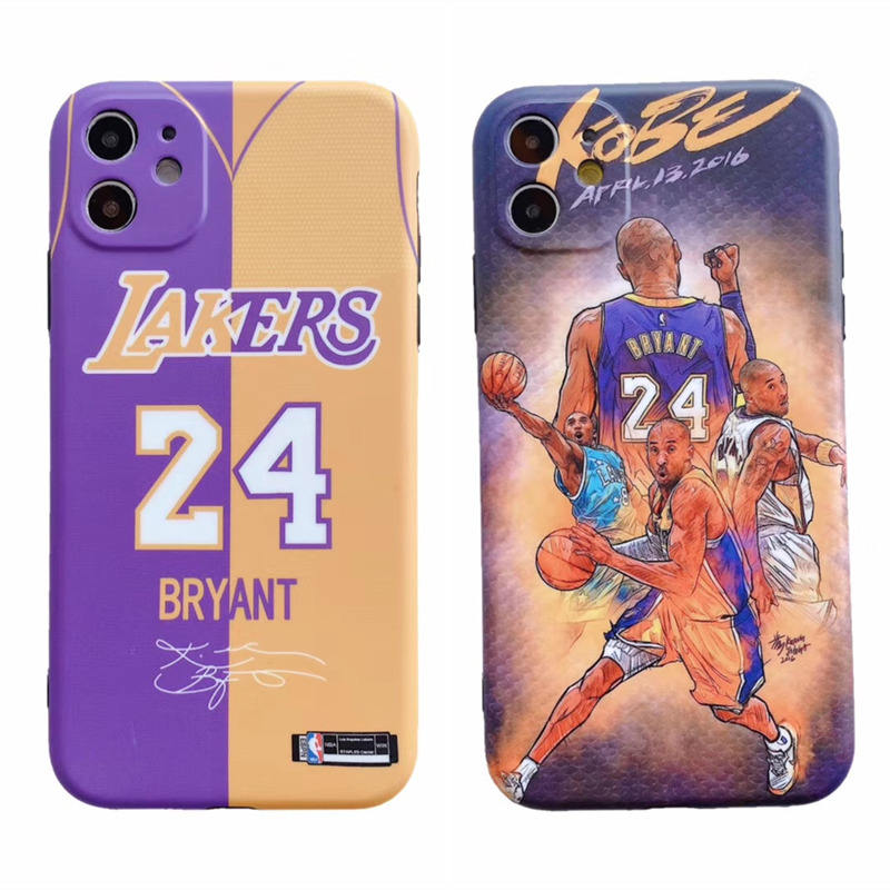 RIP Kobe Bryant Phone Case For iPhone 11 XS Max SE 2020 NBA Phone Case Mamba Camera Protective Soft TPU Cover Case for iPhone XR