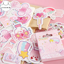 46Pcs/box Cute Diary Stickers Scrapbooking Girl Generation Series Planner Japanese Kawaii Decorative Stationery Sticker