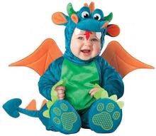 baby halloween costumes for boy/girl twins dragon