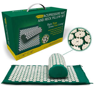 Back and Neck Pain Relief Acupressure Mat and Pillow Set Acupuncture Mat