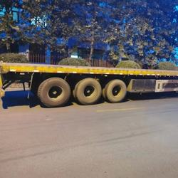 Used Flat Bed Semi-trailer (the  year of  2013) for sale in stock on promotion