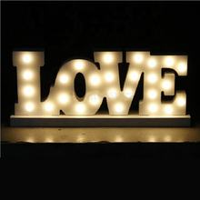 26 English Letters Lamp Bedroom Symbol Modeling Lights Wedding Birthday Props Night Light Letters Lamps